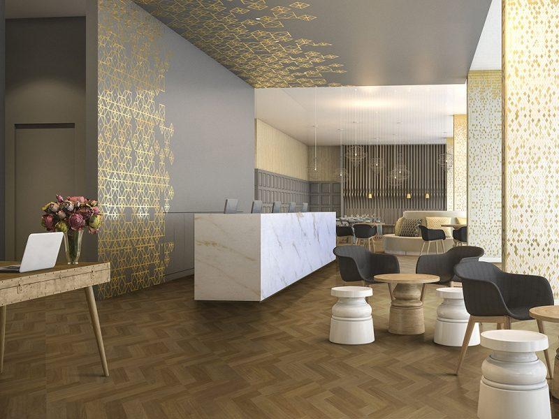 SKEMA Laminat-Bodenbelag in einem Hotel