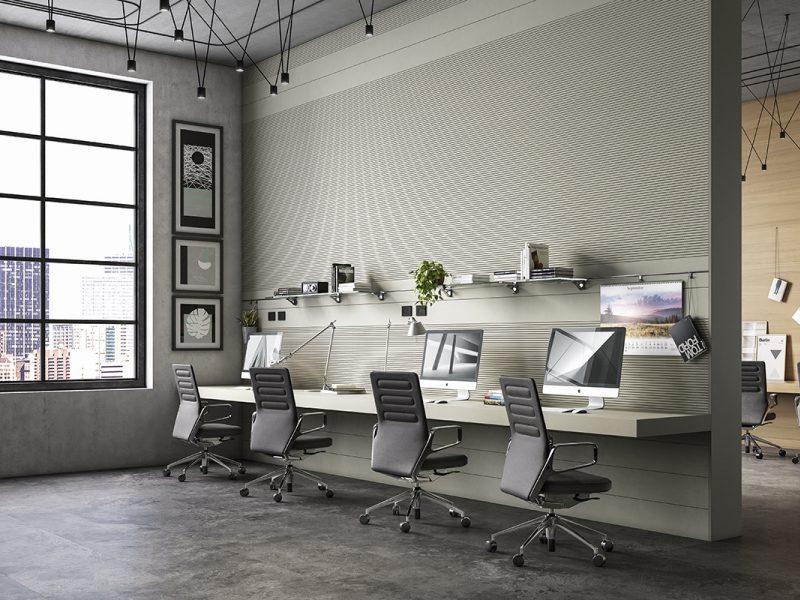 Laminat-Bodenbelag von SKEMA in einem modernen Büro